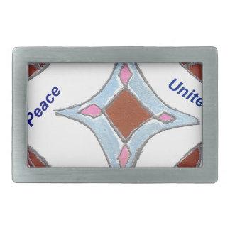 Peace Love Unity hakuna matata .png Rectangular Belt Buckles