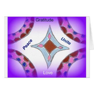 Peace Love Unity hakuna matata .png Greeting Card