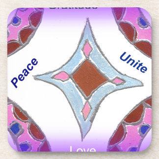 Peace Love Unity hakuna matata .png Drink Coaster