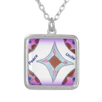 Peace Love Unity hakuna matata .png Necklaces