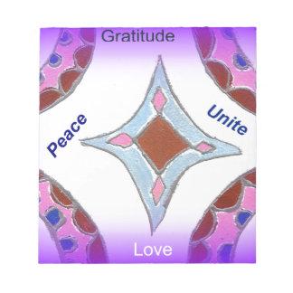 Peace Love Unity hakuna matata .png Notepads