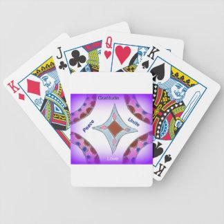 Peace Love Unity hakuna matata .png Bicycle Playing Cards