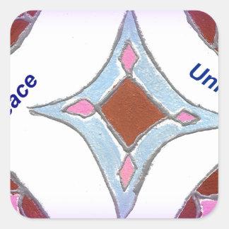 Peace Love Unity hakuna matata .png Square Sticker