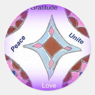 Peace Love Unity hakuna matata .png Classic Round Sticker