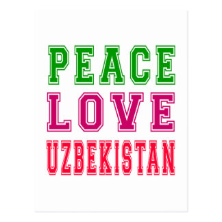 Peace Love Uzbekistan. Post Cards