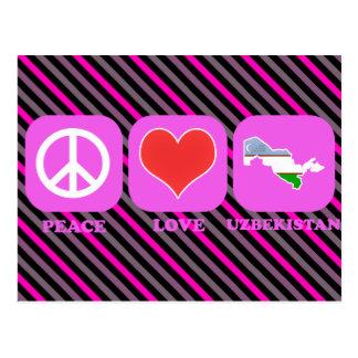 Peace Love Uzbekistan Postcard