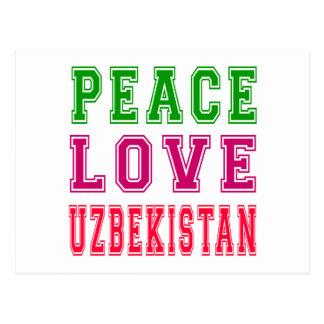Peace Love Uzbekistan. Postcard