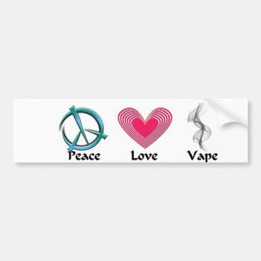 Peace Love Vape Sticker Bumper Stickers