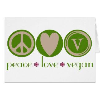 Peace Love Vegan Card