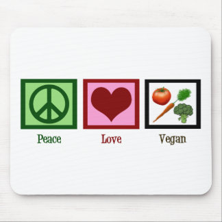 Peace Love Vegan Mouse Mat