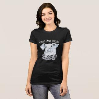 Peace Love Vegan Pig Shirt
