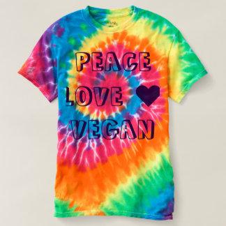 PEACE LOVE VEGAN T-SHIRT