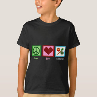 Peace Love Vegetarian Kid T-Shirt