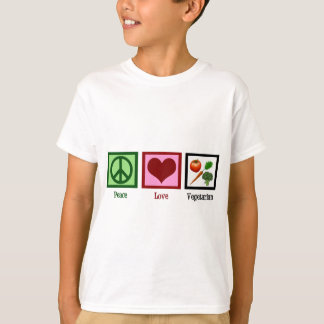 Peace Love Vegetarian Tee Shirts