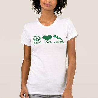 Peace love veggie tshirt