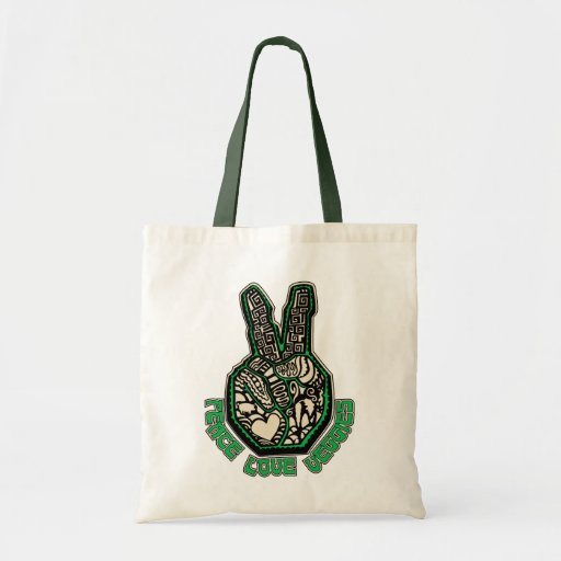 Peace Love Veggies Tote Bags