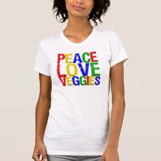 Peace Love Veggies T Shirt