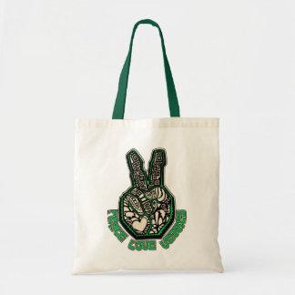 Peace Love Veggies Tote Bags