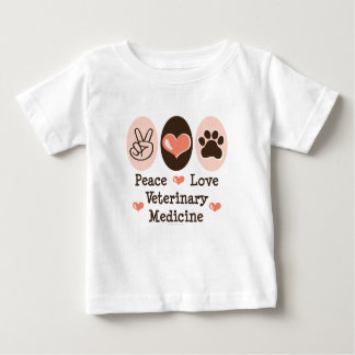 Peace Love Veterinary Medicine Baby T shirt