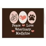 Peace Love Veterinary Medicine Blank Note Card