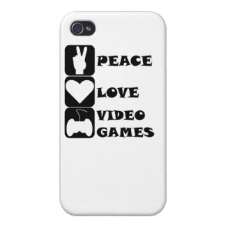 Peace Love Video Games Cover For iPhone 4