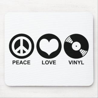 Peace Love Vinyl Mouse Mat