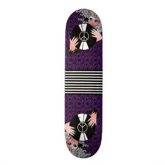 Peace, Love & Vinyl Purple Skate Board Decks