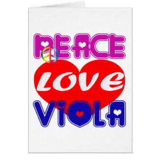 Peace Love Viola Greeting Cards