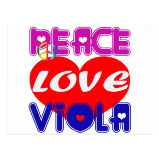 Peace Love Viola Post Cards