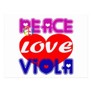 Peace Love Viola Postcard