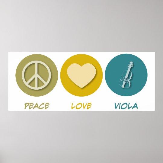 Peace Love Viola Poster