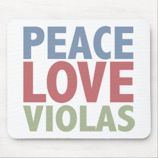 Peace Love Violas Mouse Pad