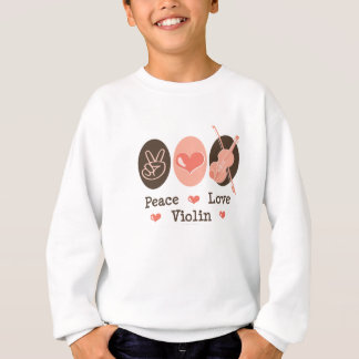 Peace Love Violin Kids Sweatshirt