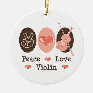 Peace Love Violin Ornament
