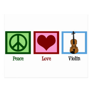 Peace Love Violin Postcard