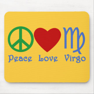 Peace Love Virgo Gifts and Products Mouse Pad