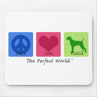 Peace Love Vizsla Mouse Pad