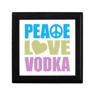 Peace Love Vodka Small Square Gift Box