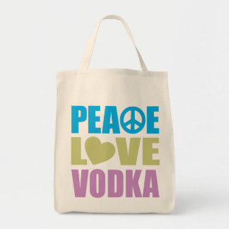 Peace Love Vodka Grocery Tote Bag