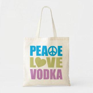 Peace Love Vodka Tote Bags