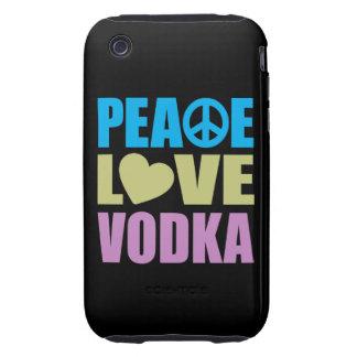 Peace Love Vodka Tough iPhone 3 Cases