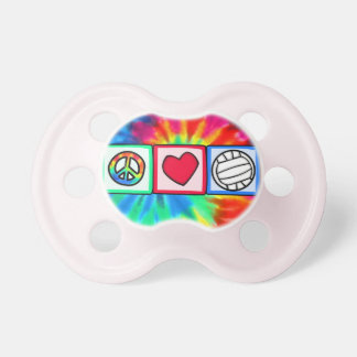 Peace, Love, Volleyball Baby Pacifier