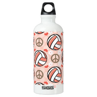 Peace Love Volleyball BPA Free SIGG Traveller 0.6L Water Bottle