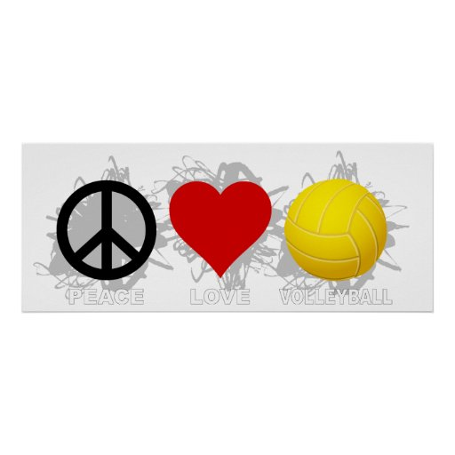 Peace Love Volleyball  Emblem 2 Poster