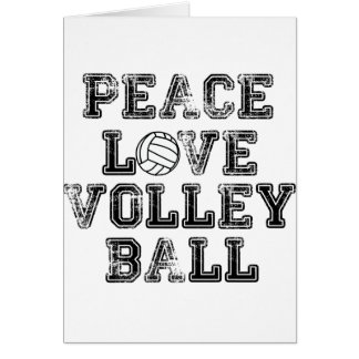 Peace, Love, Volleyball Greeting Card