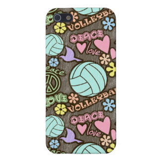 Peace, Love, Volleyball iPhone 5/5S Covers
