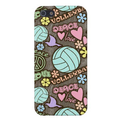 Peace, Love, Volleyball iPhone 5 Covers