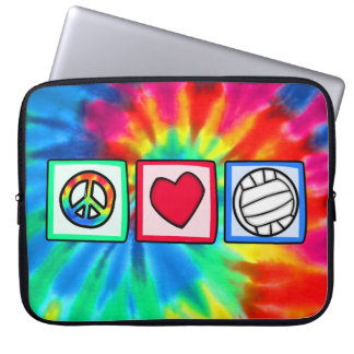 Peace, Love, Volleyball Laptop Computer Sleeve