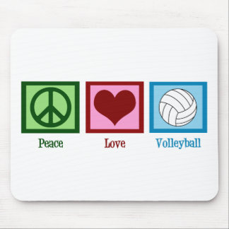 Peace Love Volleyball Mouse Mat