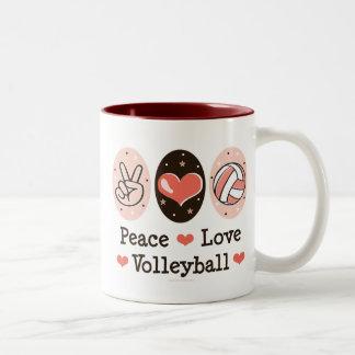 Peace Love Volleyball Mug
